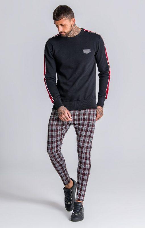 GIANNI KAVANAGH Black Sweatshirt With Black And Red Gianni Kavanagh Gianni Kavanagh