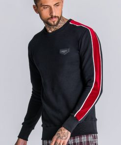 GIANNI KAVANAGH Black Sweatshirt With Black And Red Gianni Kavanagh Gianni Kavanagh