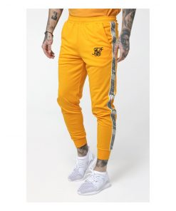 SikSilk  Cuffed Cropped Runner Pants – Yellow PANTS Pants