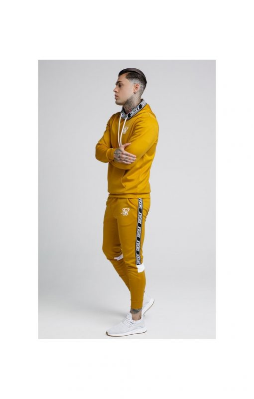 SikSilk  Poly Overhead Tape Hoodie – Gold Mustard SALES pullover