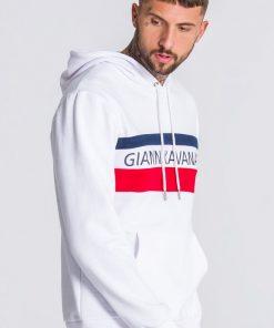 GIANNI KAVANAGH White GK Asymmetric Block Hoodie Gianni Kavanagh Gianni Kavanagh