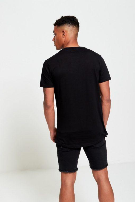 BLACK FLORAL PATCH T-SHIRT Brave Soul [tag]