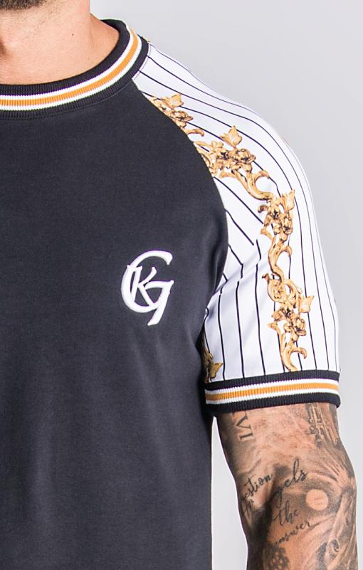 Black Baseball Baroque Raglan T-Shirt Gianni Kavanagh Gianni Kavanagh