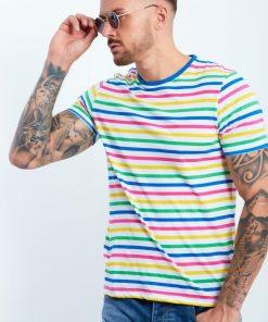 CANDY STRIPE MUSCLE FIT T-SHIRT Brave Soul t-shirt