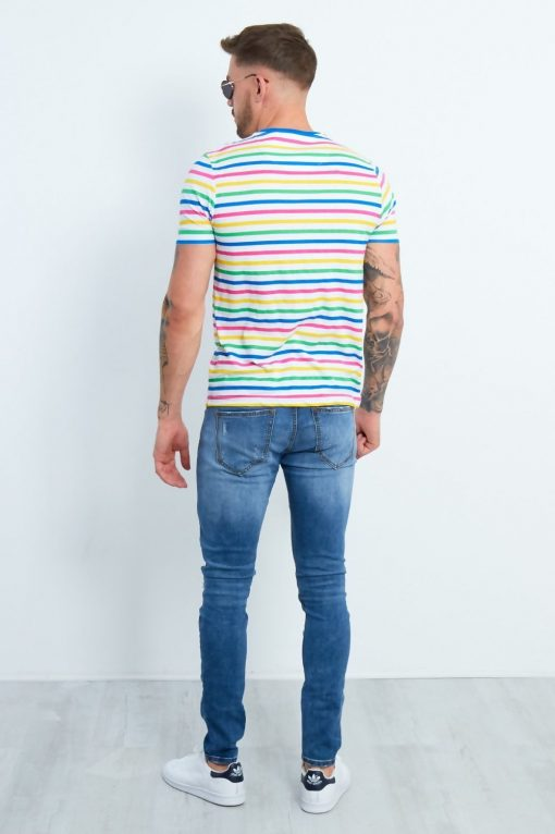 CANDY STRIPE MUSCLE FIT T-SHIRT Brave Soul t-shirt