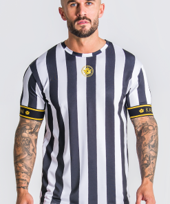 Golden Circle Striped Tee With Gold Gianni Kavanagh Gianni Kavanagh