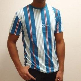 Soulstar muscle fit strip t-shirt