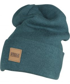 Urbanclassics Leatherpatch Long Beanie ACCESSORIES BEANIE