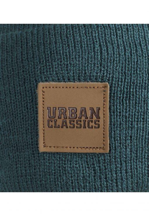 Urbanclassics Leatherpatch Long Beanie ACCESSORIES BEANIE